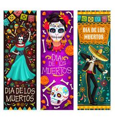 Mexican dead day fiesta party dia de los muertos vector