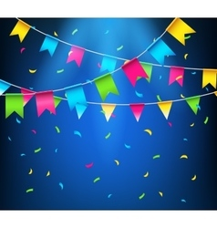 Multicolored bright buntings garlands Party flags vector image
