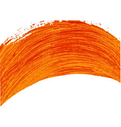 orange painted arc element vector image