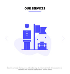Our services accomplished achieve businessman vector