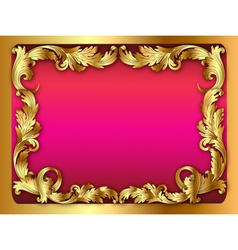 Pink background of the frame with the ornament of vector
