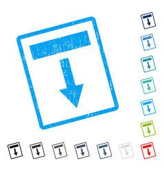 Pull down icon rubber watermark vector