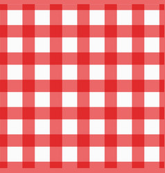Red plaid checkered gingham pattern vector