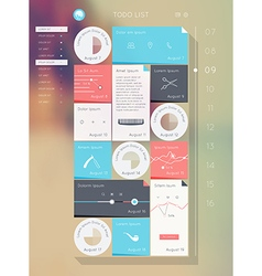 Reminder interface Flat UI design vector
