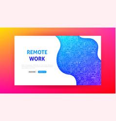 remote work landing page vector image
