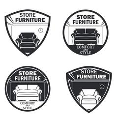 set 4 furniture vector image