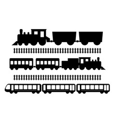 set of trains vector image