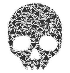 skull mosaic of triangles vector image