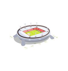 stadium building sports football soccer venue vector image