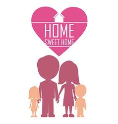 Sweet home design vector