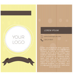 textured business card vector image