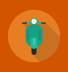 Transportation Flat Icon Scooter motorcycle vector image