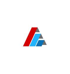 triangle shape level colored logo vector image