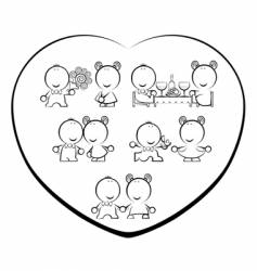 valentine-day cartoon vector image