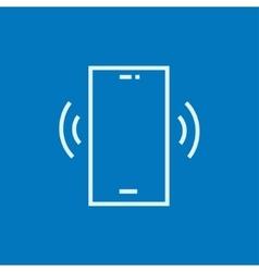 Vibrating phone line icon vector
