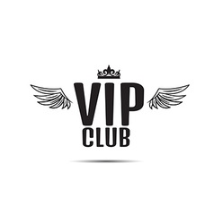 VIP club logo text with wings vector image