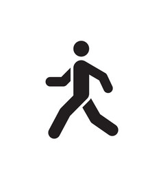 walk man black icon design run human concept sign vector image