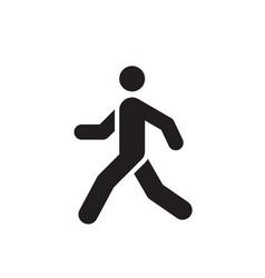 Walk man black icon design run human concept sign vector