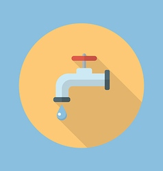 Water tap flat icon vector