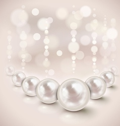 White pearls vector