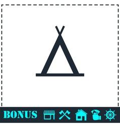 Wigwam icon flat vector