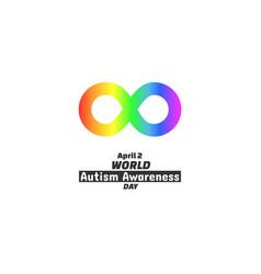 World autism awareness day april 2 2017 vector