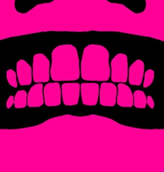 angry face vector image