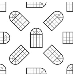 arched window icon seamless pattern vector image