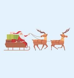 Christmas reindeer holiday mammal deer xmas vector