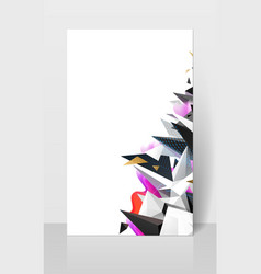 geometric abstract composision modern triangles vector image vector image