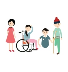 world disability day disabled people flat vector image vector image