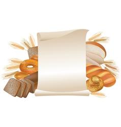 Bakery scroll vector