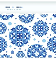 Blue abstract circles square seamless pattern vector image