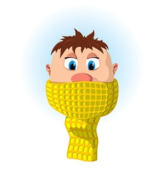 Boy with scarf vector image