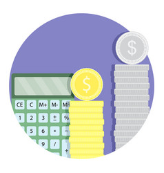 count money budget finance icon vector image