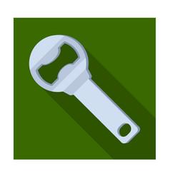 metal bottle opener for beer bottlesa device for vector image