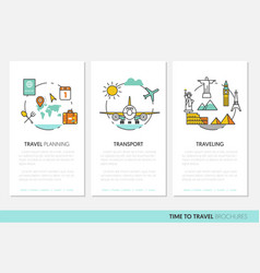 travel vacations business brochure template vector image vector image