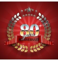 Celebrative Golden Frame for 80th Anniversary vector image