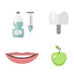 flat health care dentist medical tools medicine vector image vector image