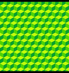 Green Geometric Volume Seamless Pattern Background vector image vector image