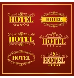 Hotel Vintage labels vector image