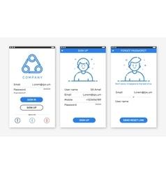 onboarding app screenst vector image
