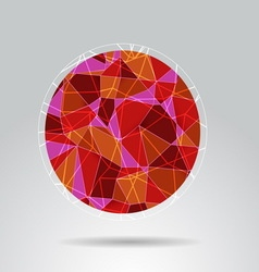 Orange polygon ball design background vector image vector image