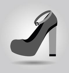 single women platform high heel strap shoe icon vector image vector image
