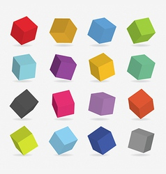 3d color boxs vector image