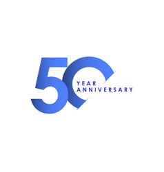 50 years anniversary celebration blue gradient vector
