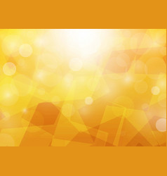 abstract bokeh orange color background vector image