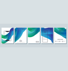 abstract bright posters set vector image