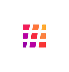 abstract business logo icon design with hashtag vector image