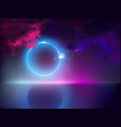 abstract light halo in night sky vector image